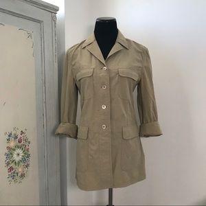 Piazza Sempione Safari Jacket Button Down Tan